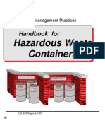 Haz. Waste containers