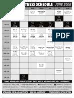 Fitness Schedule June 2009