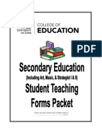 Secondary Education Forms Packet