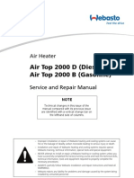 Webasto Air Top 2000 B Service And Repair Manual