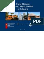 Energy Efficiency Building Design Guidelines for Botswana