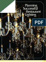 GE Restaurant Lighting Application Brochure 1977
