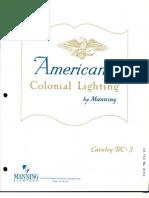 Manning Americana Colonial Lighting Catalog DC-3