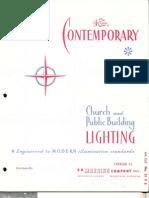 Manning Contemporary Church & Public Building Lighting Catalog CC 1961