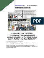Military Resistance 11H6 Combat Casualties