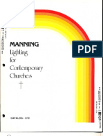 Manning Contemporary Church Lighting Catalog C10 5-88