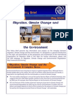 IOM Policy Brief Migration and Climate Change