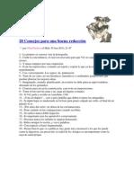 20 Consejos para una buena redacción
