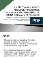 Síntomas y signos ocasionados por trastornos del riñón y vías urinarias