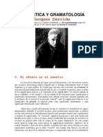 4 - De la Gramatología - 1ra parte, cap. 2 - LINGÜÍSTICA Y GRAMATOLOGÍA - parte 2