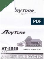 Anytone AT-5555 Manual español. By 30LS001.