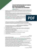 CERTIFICADOS DE PARTICIPACIÓN EN FONDOS MUTUOS DE INVERSIÓN