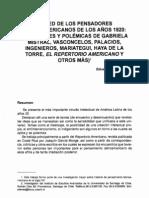 red pensadores latinoamericanos años '20