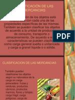 """CLASIFICACIÃ""""N DE LAS MERCANCIAS DIAPOSITIVAS"""