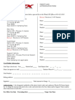 Credit Card Authorization Form Pre-pay and Please Fill Out