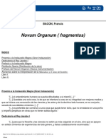 Novum Organum Fragamentos