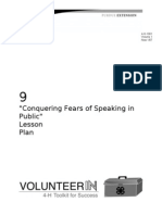 Conquering Fears of Speaking in Public Lesson Plan
