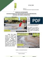 2013-18 - PI - RUTURA DE CONDUTA DE ABASTECIMENTO DE ÁGUA NÃO RESOLVIDA Caminho das Areias Olhão