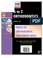 A to z Orthodontics Vol 23 Index of Orthodontic Treatment Need