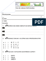 Pnaic - Avaliação Diagnóstica - 1º Ano