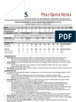 08.11.13 Post-Game Notes