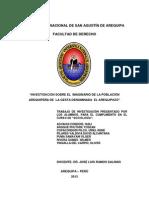 INVESTIGACIÓN - IMAGINARIO - AREQUIPAZO
