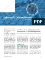 Confessions of a Conference Interpreting
