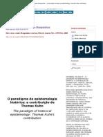 História, Ciências, Saúde-Manguinhos - The paradigm of historical epistemology_ Thomas Kuhn_s contribution