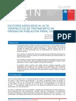 FACTORES ASOCIADOS AL ALTA TERAPEUTICA DE TTO DE DROGAS EN POBLACIÓN PENAL CHILENA
