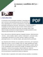Psicologia de Las Masas y Analisis del Yo
