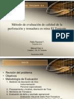 N° 20 Método de evaluación de Calidad de la P y T en Mina El Teniente