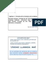Clase Cap 1.3 Formulas Quimicas ,Mol FE,FM, Masa Molar (1)