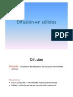 Difusion en Solidos