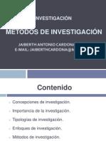3. Enfoques de Investigacion