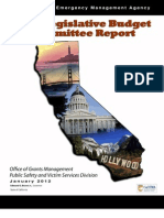 California Emergency Management Agency Joint Legislative Budget Committee Report