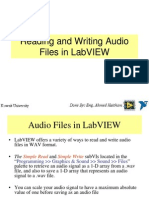 Reading and Writing Audio Files in LabVIEW