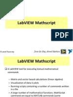 LabVIEW Mathscrip