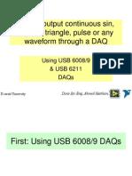 Generate Continuous Signals Using 6211