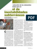 Control inestabilidades Subterraneas