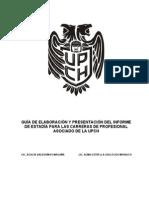 GUÍA DE ELABORACIÓN Y PRESENTACIÓN DEL INFORME DE ESTADÍA