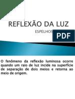 REFLEXÃO DA LUZ ESPELHO PLANO
