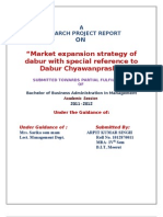 Market Expansion Strategy of Dabur With Special Reference to Dabur Chyawanprash for Rural Market