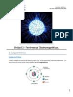 Física 1, Unidad 2_Fenómenos Electromagnéticos_1a parte