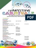2013 Tuna Festival Schedule of Events