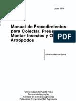 Manual Colectar y Montar Insectos