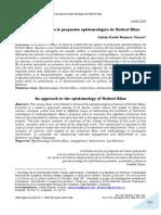 Un acercamiento a la propuesta epistemológica de Norbert Elías - Julián David Romero Torres