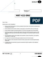 Pgt English Paper