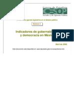 ACOPPI002 Indicadores de Gobernabilidad y Democracia en Mexi