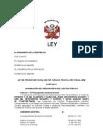 Pro y Ley Depre Supuesto 2008