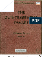 D&D 3rd Edition - The Quintessential Dwarf